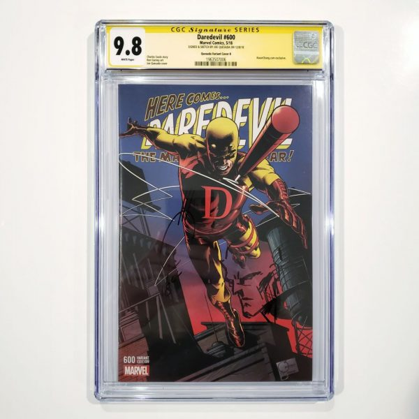 Daredevil #600 CGC SS 9.8 Quesada Variant Cover B Signed Front