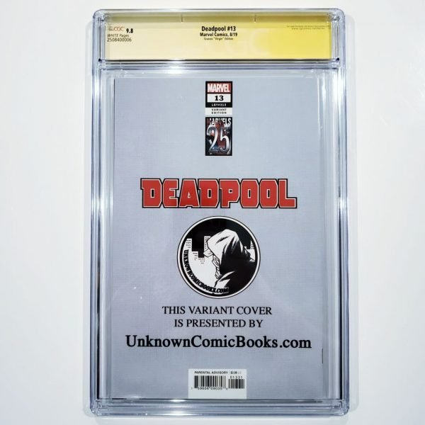 Deadpool (2019) #13 CGC SS 9.8 Granov Variant Back