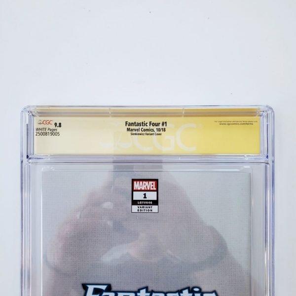 Fantastic Four #1 CGC SS 9.8 Sienkiewicz Virgin Variant Back Label