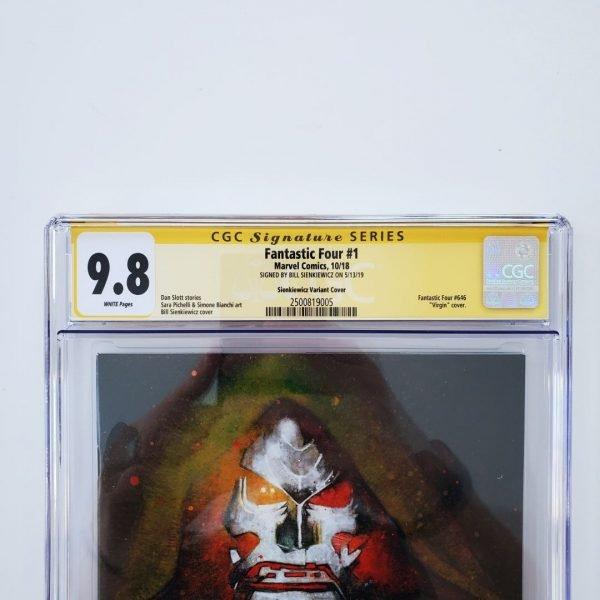 Fantastic Four #1 CGC SS 9.8 Sienkiewicz Virgin Variant Front Label