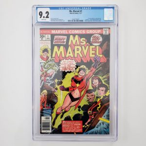 Ms. Marvel #1 CGC 9.2 NM- Front
