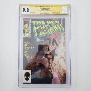 New Mutants #25 CGC SS 9.8 NM/M Front