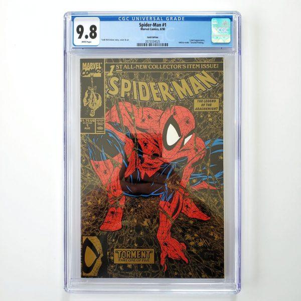 Spider-Man (1990) #1 CGC 9.8 NM/M Gold Edition Front