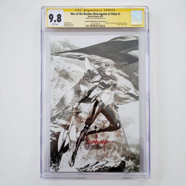 War of the Realms: New Agents of Atlas #1 CGC 9.8 Suayan Virgin Sketch Variant Front