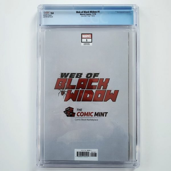Web of Black Widow #1 CGC 9.8 Comic Mint Virgin Variant Back
