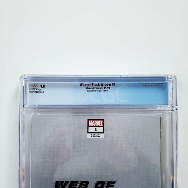 Web of Black Widow #1 CGC 9.8 Comic Mint Virgin Variant Back Label