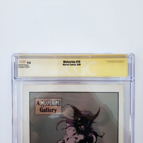 Wolverine #10 CGC SS 9.4 NM Back Label