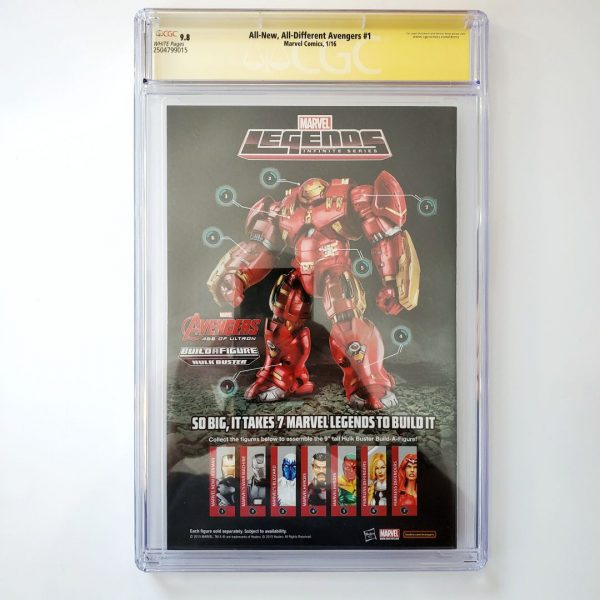 All New, All Different Avengers #1 CGC SS 9.8 NM/M Back