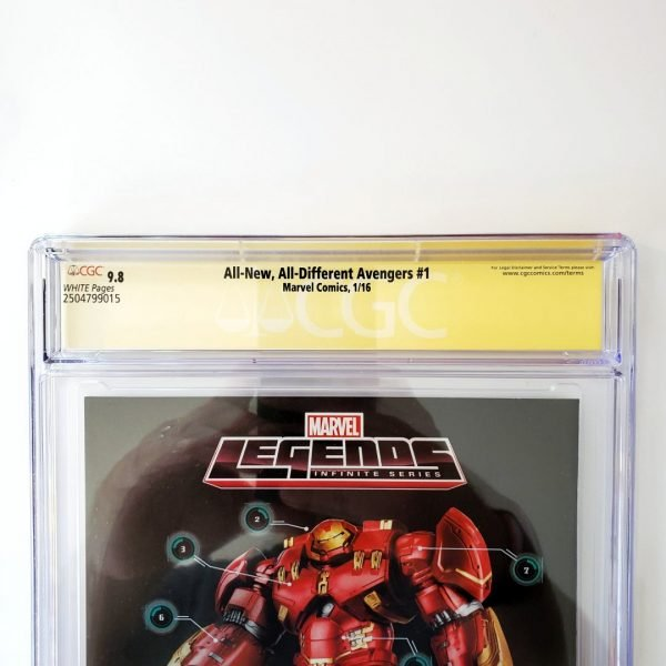 All New, All Different Avengers #1 CGC SS 9.8 NM/M Back Label