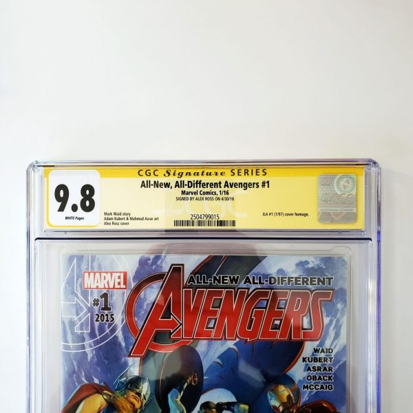 All New, All Different Avengers #1 CGC SS 9.8 NM/M Front Label