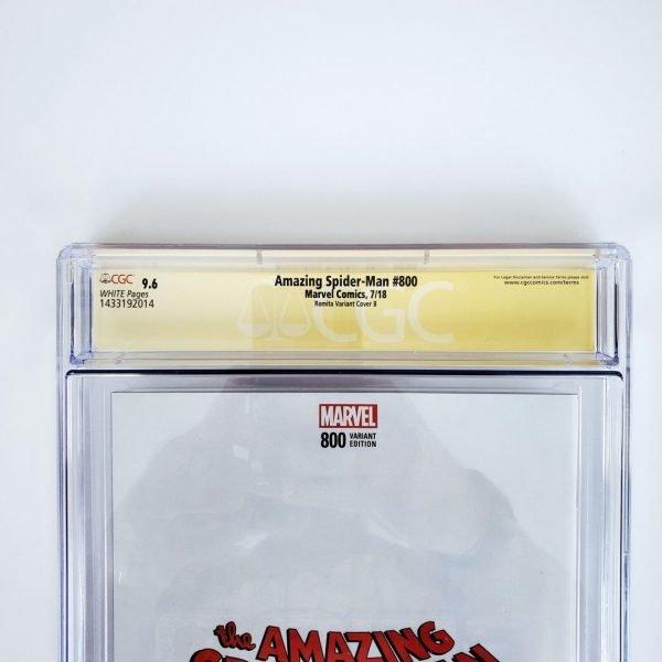 Amazing Spider-Man #800 CGC SS 9.6 NM+ Romita Variant B Back Label