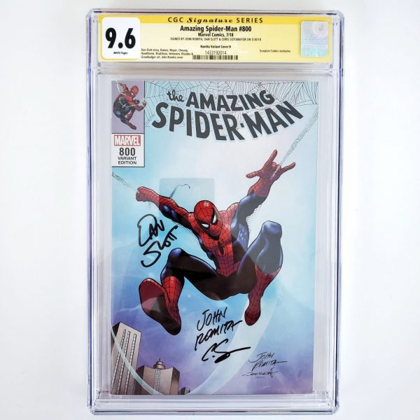 Amazing Spider-Man #800 CGC SS 9.6 NM+ Romita Variant B Front