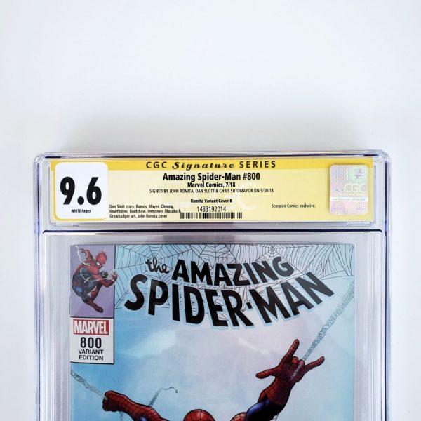 Amazing Spider-Man #800 CGC SS 9.6 NM+ Romita Variant B Front Label