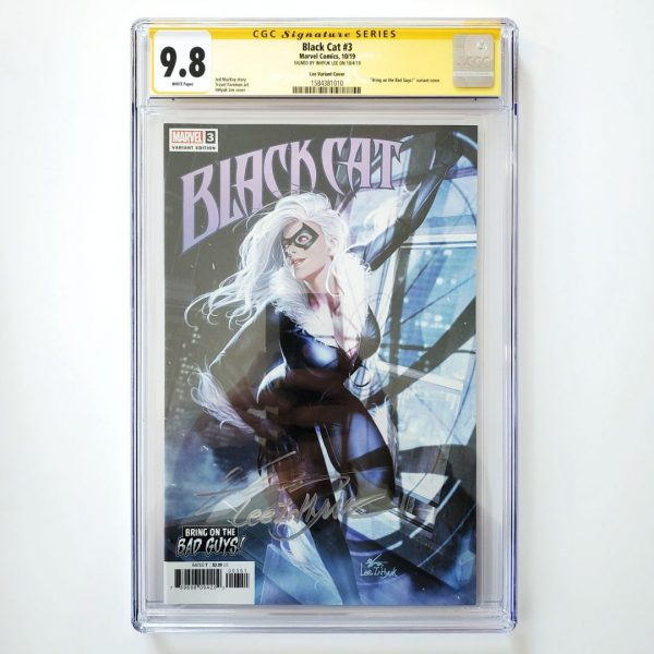 Black Cat #3 CGC SS 9.8 NM/M Lee Variant Front