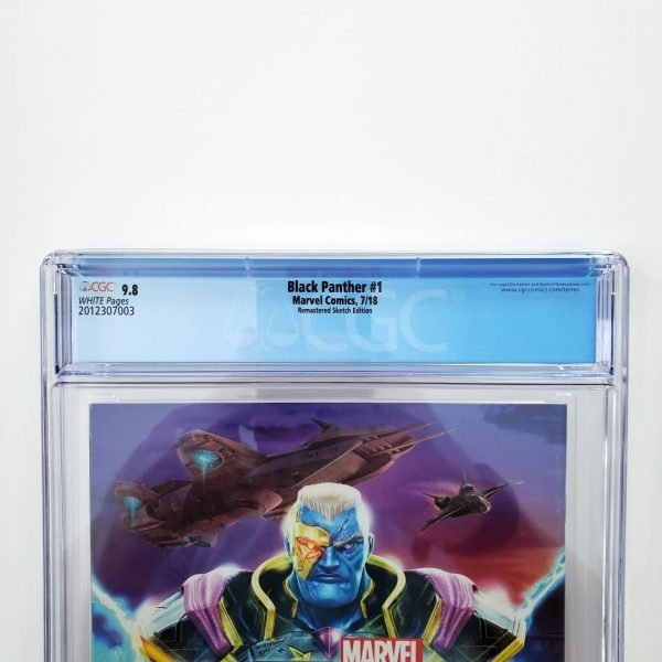 Black Panter #1 CGC 9.8 NM/M Remastered Sketch Variant Back Label