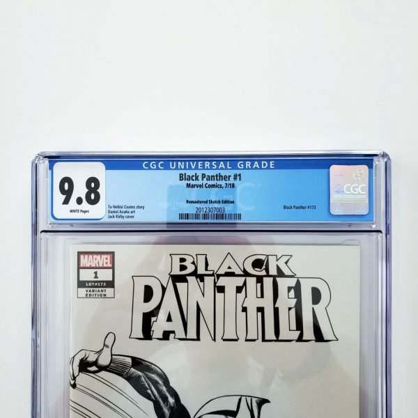 Black Panter #1 CGC 9.8 NM/M Remastered Sketch Variant Front Label