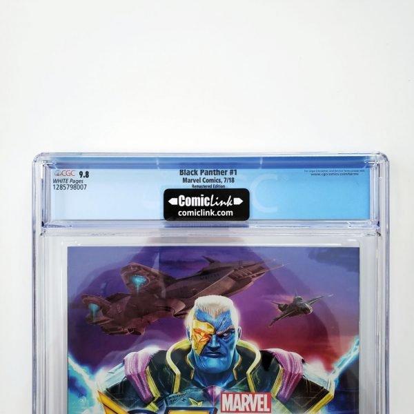 Black Panter #1 CGC 9.8 NM/M Remastered Variant Back Label