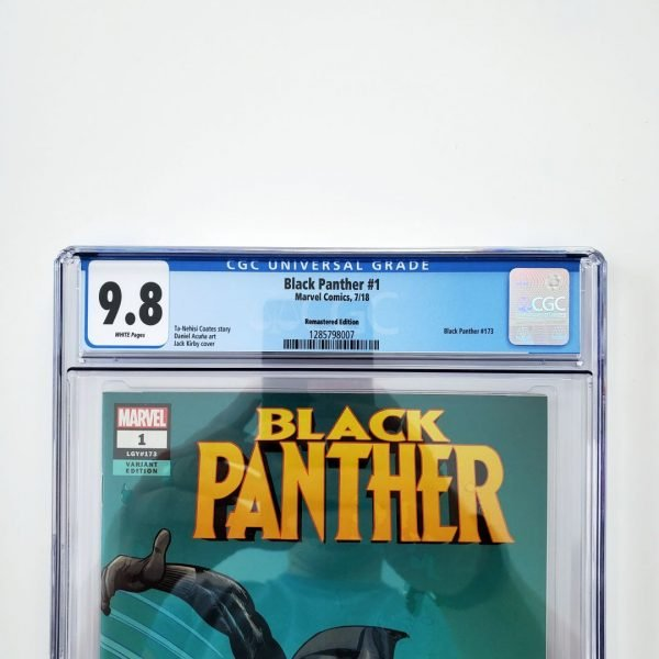Black Panter #1 CGC 9.8 NM/M Remastered Variant Front Label