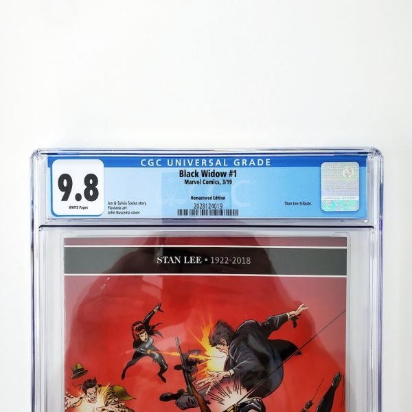 Black Widow (2019) #1 CGC 9.8 NM/M Remastered Variant Front Label