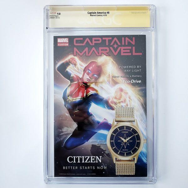 Captain America (Vol. 9) #8 CGC SS 9.8 NM/M Back