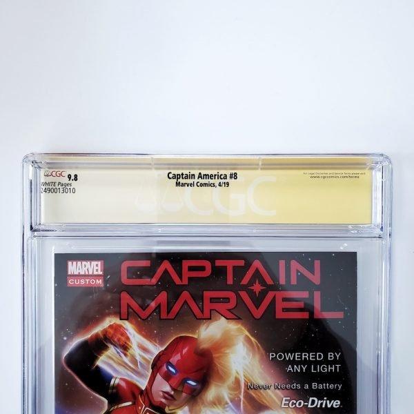 Captain America (Vol. 9) #8 CGC SS 9.8 NM/M Back Label