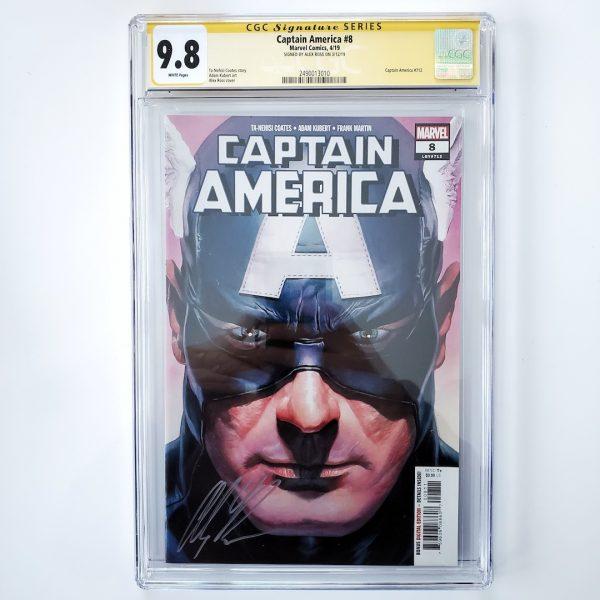 Captain America (Vol. 9) #8 CGC SS 9.8 NM/M Front