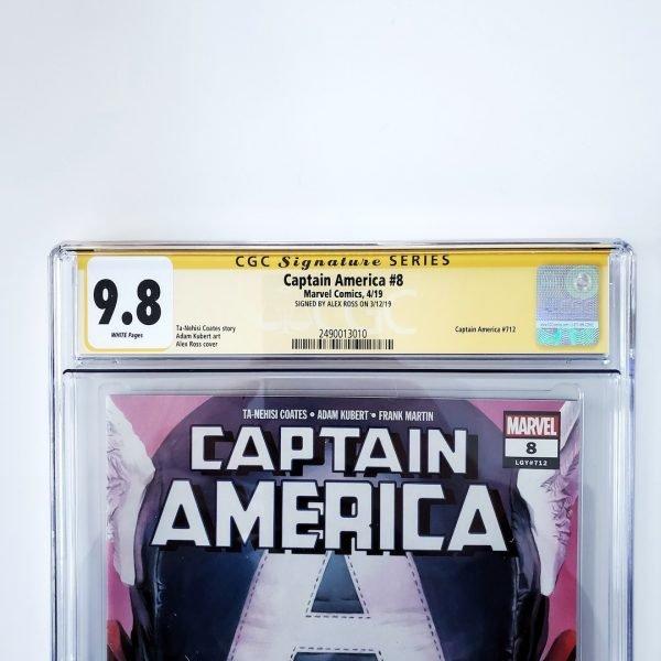 Captain America (Vol. 9) #8 CGC SS 9.8 NM/M Front Label
