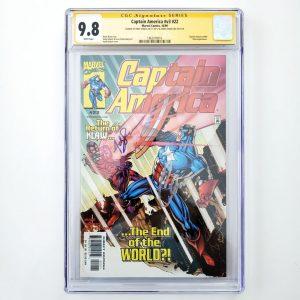 Captain America (Vol. 3) #22 CGC SS 9.8 NM/M Front