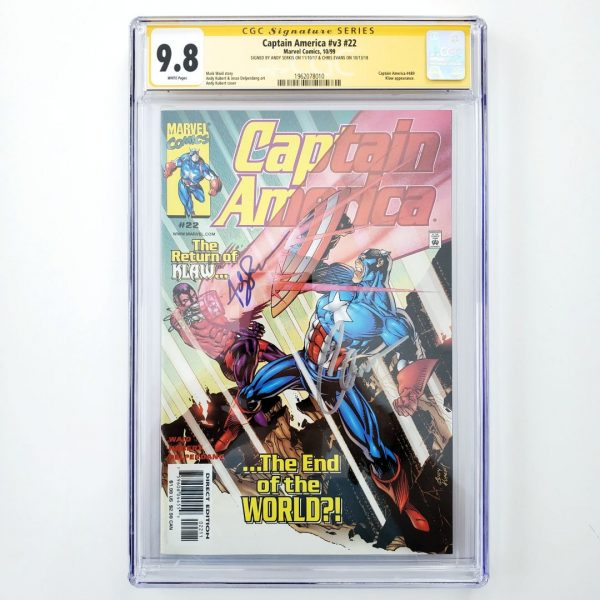 Captain America (Vol. 3) #22 CGC SS 9.8 NM/M Front