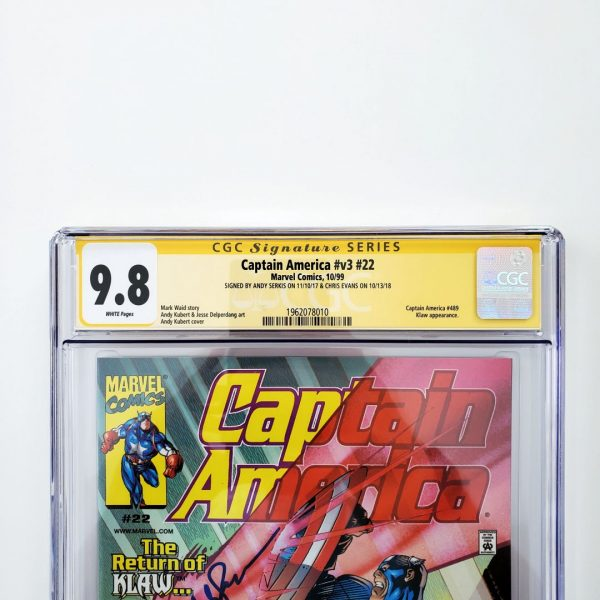 Captain America (Vol. 3) #22 CGC SS 9.8 NM/M Front Label