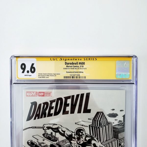 Daredevil #600 CGC SS 9.6 NM+ Remastered Sketch Variant Front Label