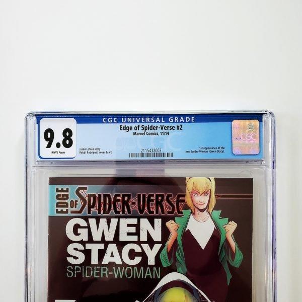 Edge of Spider-Verse #2 CGC 9.8 NM/M Front Label