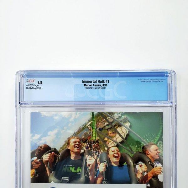 Immortal Hulk #1 CGC 9.6 NM+ Remastered Sketch Variant Back Label