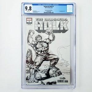 Immortal Hulk #1 CGC 9.6 NM+ Remastered Sketch Variant Front