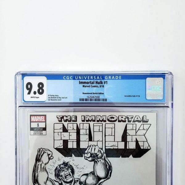 Immortal Hulk #1 CGC 9.6 NM+ Remastered Sketch Variant Front Label