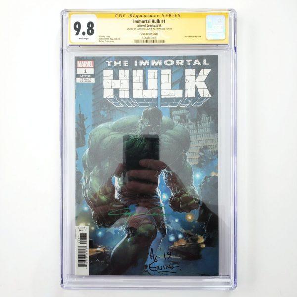 Immortal Hulk #1 CGC SS 9.8 Clayton Crain Variant Front