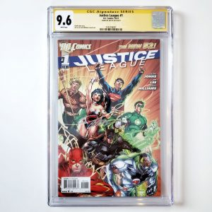 Justice League #1 CGC SS 9.6 NM+ Front
