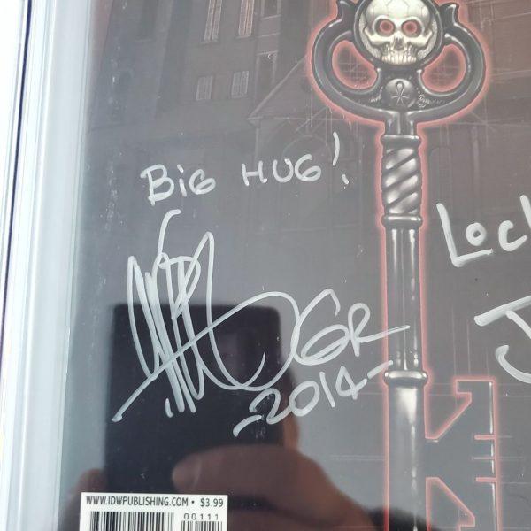 Locke & Key #1 CGC SS 9.8 NM/M Gabriel Rodriguez Signature