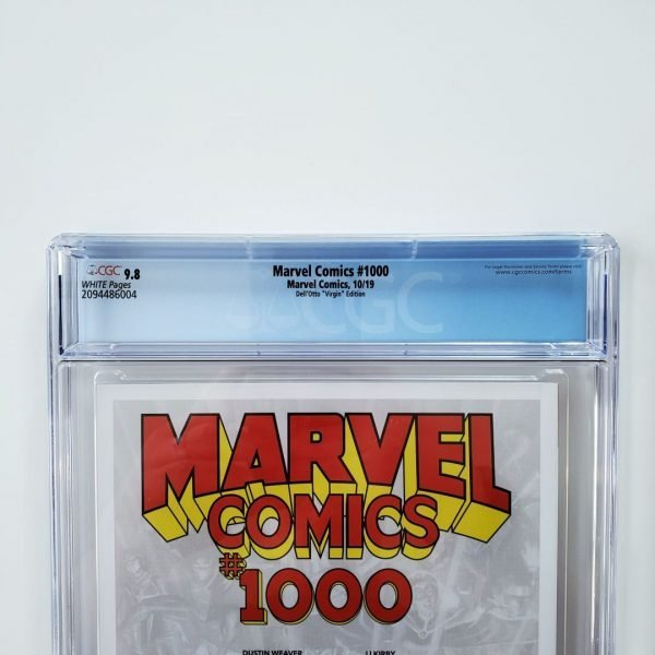 Marvel Comics #1000 CGC 9.8 Dell'Otto Virgin Variant Back Label