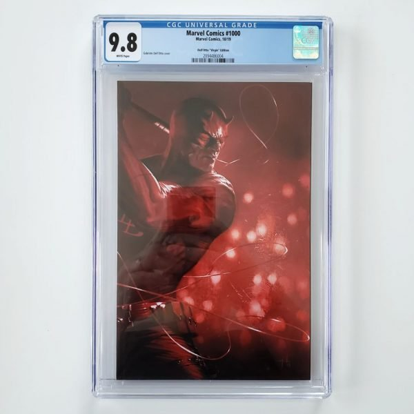 Marvel Comics #1000 CGC 9.8 Dell'Otto Virgin Variant Front