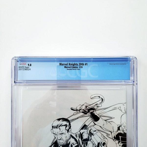 Marvel Knights 20th #1 CGC 9.8 Quesada Hidden Gem Sketch Variant Back Label