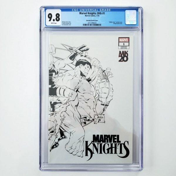 Marvel Knights 20th #1 CGC 9.8 Quesada Hidden Gem Sketch Variant Front