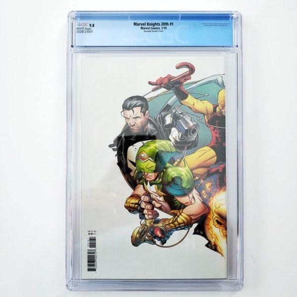 Marvel Knights 20th #1 CGC 9.8 Quesada Hidden Gem Variant Back