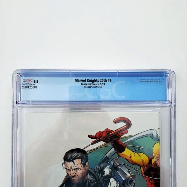 Marvel Knights 20th #1 CGC 9.8 Quesada Hidden Gem Variant Back Label