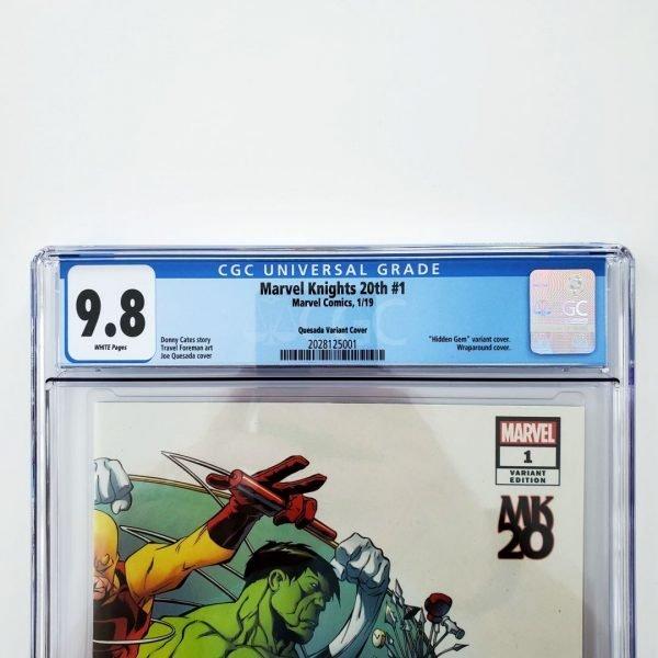 Marvel Knights 20th #1 CGC 9.8 Quesada Hidden Gem Variant Front Label