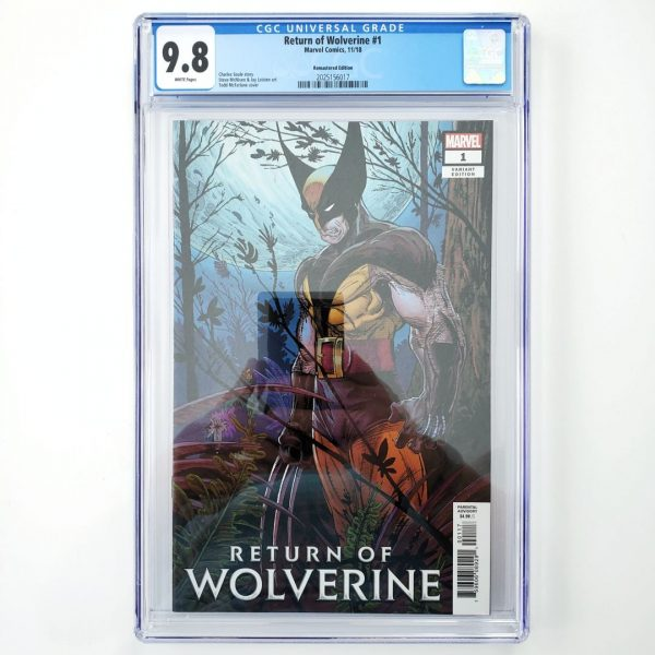 Return of Wolverine #1 CGC 9.8 Remastered Variant Front