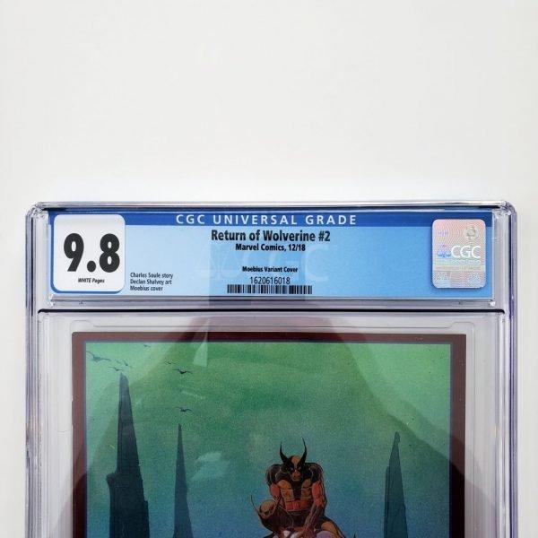 Return of Wolverine #2 CGC 9.8 NM/M Moebius Variant Front Label