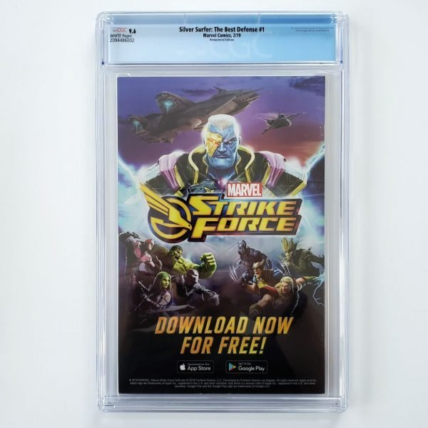 Silver Surfer: The Best Defense #1 CGC 9.6 Remastered Variant Back