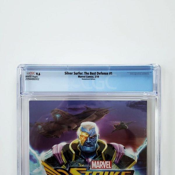 Silver Surfer: The Best Defense #1 CGC 9.6 Remastered Variant Back Label