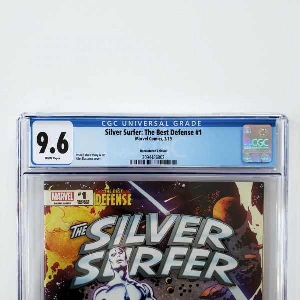Silver Surfer: The Best Defense #1 CGC 9.6 Remastered Variant Front Label